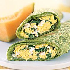 Garden breakfast wrap, Organic Gardening Magazine