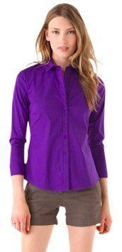 Theory Purple Button Down Shirt $75