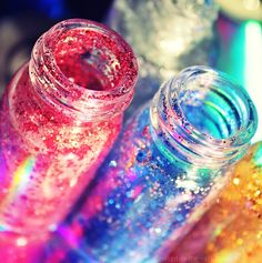 Rainbows in a jar by naked-in-the-rain.deviantart.com on @deviantART