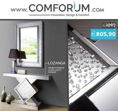 Ensemble design Console + Miroir - Lozanga - www.comforium.com  #Actu #Bonplan #Perfect #Promo #Discount #OMNO