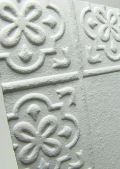 white embossed tiles   ... white. We can also custom design a tile from scratch if you want