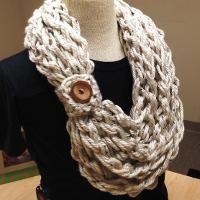 Crochet Bulky Rope Hand Crochet Scarf - via @Craftsy