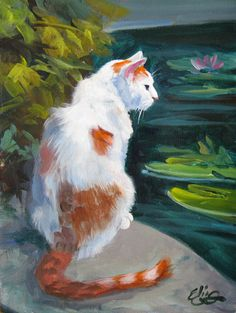 beautiful paintings of cats | The Daily Paintings and Postcard-Sized Sketches in Oils and Acrylics