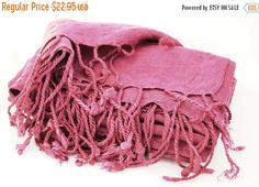 Pashmina Scarf Viscose Scarf Pink Scarf by BestOffersBoutique
