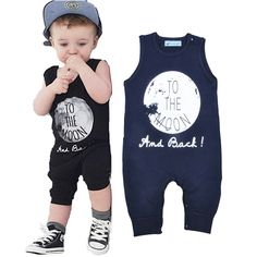 baafca366 US $9.31 |2016 KIKIKIDS Newborn Baby romper Sleeveless summer baby girl  jumpsuit to the Moon printed Unisex baby girl boy clothes enfant-in  Bodysuits from ...