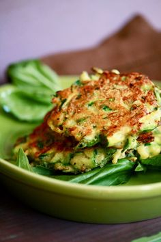 Impress your family with these beautiful zucchini fritters from Skinny Chef Jennifer served hot at a Sunday morning brunch.