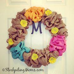 How to make a Burlap Wreath#burlap #wreath