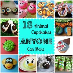 18 Animal Cupcakes Anyone Can Make - these make me miss my daughter!  We need to bake cupcakes when she returns!
