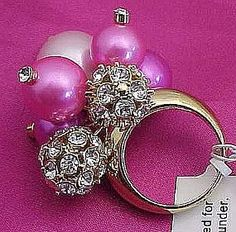 Fluorescent Pink Kate Spade Cluster Ring