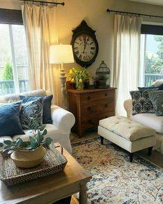 Dresser In Living Room, Home Living Room, Living Room Furniture, Living Room Designs, Living Room Decor, Living Spaces, Small Living, Condo Living, Furniture Logo