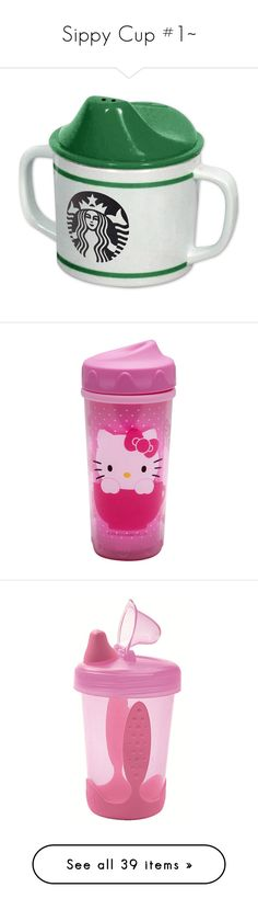 """Sippy Cup #1~"" by kitty-style101 ❤ liked on Polyvore featuring baby, kids, baby stuff, baby girl, ddlg, filler, bottles, baby things, baby food and food"