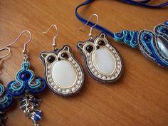 soutache owls by on DeviantArt Owl Earrings, Soutache Earrings, Macrame Earrings, Crochet Earrings, Boho Jewelry, Beaded Jewelry, Women Jewelry, Jewellery, Soutache Tutorial