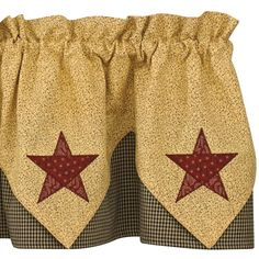 Check out the deal on Country Star Lined Point Valance at Primitive Home Decors
