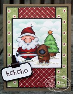 TSG182 - Ho Ho Ho by MrsOke - Cards and Paper Crafts at Splitcoaststampers