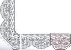 Cross Stitch Rose, Stitch 2, Cross Stitch Flowers, Crochet Edging Patterns, Crochet Borders, Embroidery Patterns, Filet Crochet, Crochet Lace, Romanian Lace