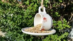Check out this item in my Etsy shop https://www.etsy.com/listing/236903676/vintage-teacup-bird-feederhanging-bird