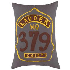 Boys Throw Pillow: Firefighter Badge Throw Pillow in Throw Pillows   The Land of Nod