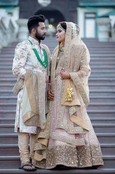 Photo from Arjun & Neha Wedding Couple Wedding Dress, Groom Wedding Dress, Indian Wedding Couple, Groom Dress, Indian Bridal, Wedding Attire, Bride Groom, Wedding Wear, Wedding Suits