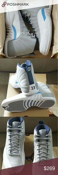 Air Jordan 12 Retro UNC authentic Air Jordan 12 Retro UNC deadstock comes  with original box original receipt size 10 Nike Shoes Athletic Shoes 95ca5b8c73