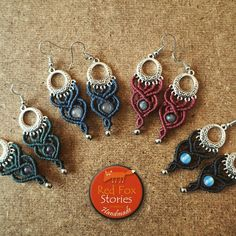 Bohemian macrame earrings with various semi precious stones and colors! Available on etsy shop(link in bio) #macrame #macramejewelry #macrameearrings #macrameart #bohemian #boho #ethnic #tribal #yogajewelry #handmade #jewelry #etsysellerofinstagram #etsyshop #etsyfinds #redfoxstories