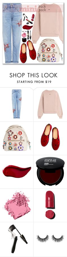"""""""Mini"""" by cowseatchard ❤ liked on Polyvore featuring Citizens of Humanity, Off-White, Fendi, Charlotte Olympia, Max Factor, Kat Von D, Chanel, Bobbi Brown Cosmetics and Lancôme"""