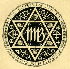 Bookplate by Alfred Cossmann for Marco Birnholz, ??