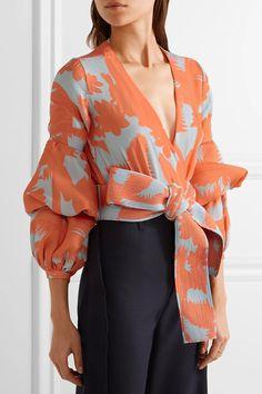 Johanna Ortiz | Pintada ruffled printed stretch silk-blend bodysuit | NET-A-PORTER.COM