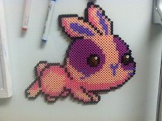 Maplestory Bunny - Perler Art by ~Brentimous on deviantART