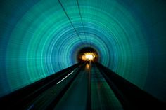 Picture of Light effects in the Bund Sightseeing Tunnel
