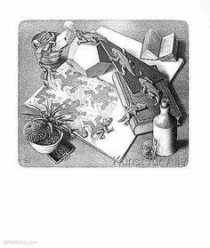 Maurits Cornelis Escher - Reptilien 2