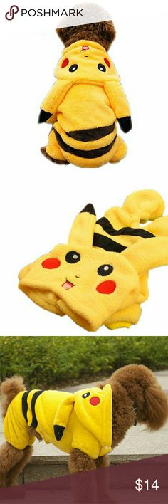 Dog Pikachu Halloween Costume Pokemon Pikachu Halloween costume for dogs. Size S, but fits more like an XS (it's a little too snug for my 11 pound shih tzu). In excellent condition, only taken out of package and tried on once. Other