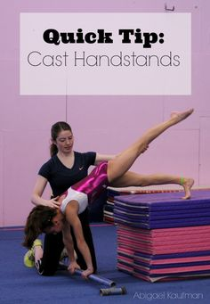 Improve your gymnasts cast handstands with this quick drill