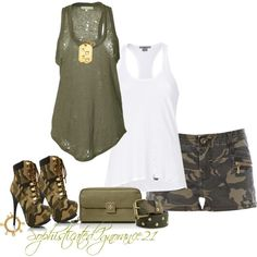 Camo Short, created by sophisticatedignorance21 on Polyvore