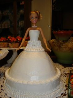 Barbie Doll Bride Cake