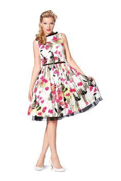 Retro Dress Burda 7054