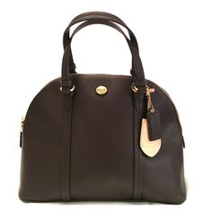 Coach Cora Peyton domed brown satchel Love this structured bag! Chocolate in color with gold tone hardware. Great used condition. Very clean inside and out with minimal wear. Coach Bags Satchels