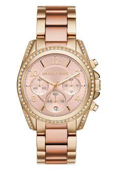 Michael Kors BLAIR Chronograph goldfarben/roségoldfarben  #michaelkors #fashion #mode #uhren #stylaholic #luxury #luxus