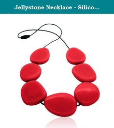 Jellystone Necklace - Silicone (Teething/Nursing) (Scarlet Red). Jellystone Designs jewelry is free from BPA, Phthalates and PVC with a fabulous soft-feel and texture. Our practical jewelry products are suitable for modern women with (or without) children.The necklace range includes large, chunky pendants and necklaces secured with practical break-away clasps. Our custom-designed clasps separate easily when tugged or snagged. These silicone jewelry pieces not only look great, but also are…