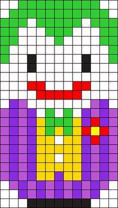 Joker Perler Bead Pattern / Bead Sprite