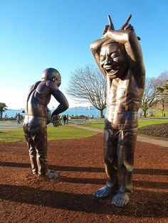 The jovial A-Maze-Ing Laughter statues in Morten Park by Chinese artist Yue Minjun have brought smiles to the faces of locals and visitors for the last few years. As a part of the Vancouver Biennale public art exhibition, time is running out on these painted bronze figures at English Bay. That is, unless the Park Board hears your thoughts.