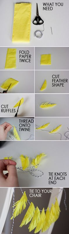 FEATHER GARLAND DIY
