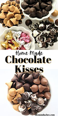 Make homemade Chocolate Kisses using your choice of chocolate and a candy mold. Create dozens of bite sized confections in under an hour. Gluten free, allergen free, ethically sourced.