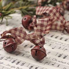 Mini Burgundy Sleigh Bells Garland - Christmas Garlands - Christmas and Winter - Holiday Crafts TrinTravels_PugsPlay