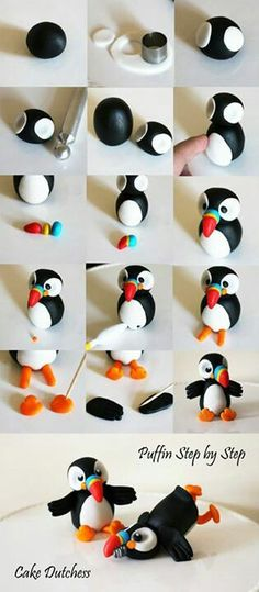 Puffin Polymer Clay Tutorial