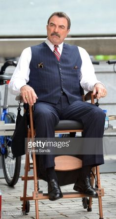 Tom Selleck - Celebrity Sightings in New York City, August 2013 ~ Photo by Steve Sands Blue Bloods Tv Show, Jesse Stone, Blood Photos, Real Movies, Sam Elliott, Don Johnson, Tom Selleck, My Tom, Kevin Costner