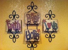 Set of Four 8 X 10 Hand painted Canvas signs by SignsBYDebbieHess, $40.00