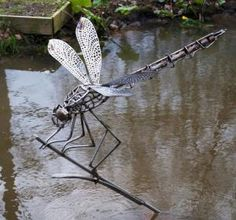 Dragonfly Garden Sculpture Sculptures Metal Art Steel