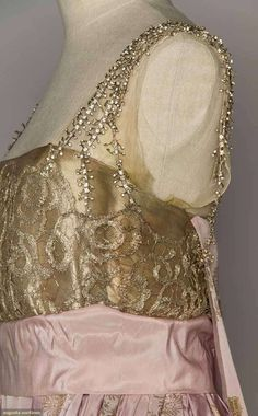 Evening Gown (image 5) | 1916 | faille, brocade | Augusta Auctions | April 20, 2016/Lot 209