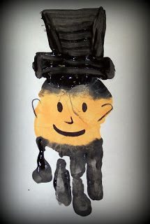 Abe Lincoln Handprint Craft