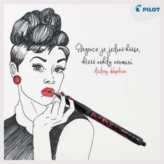 Hledáš ideální dámské pero, které v sobě snoubí styl a funčknost? Pero #G2 #Victoria je to pravé pro tebe - spojuje ladnou eleganci s dotekem ženskosti. Zkus ho! :) #happywriting Victoria, Audrey Hepburn, Pilot, Movie Posters, Film Poster, Pilots, Billboard, Film Posters